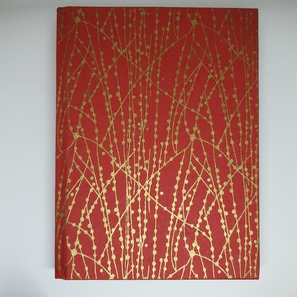 """Recycled Cotton Journal in Red/Gold-6""""x8"""""""